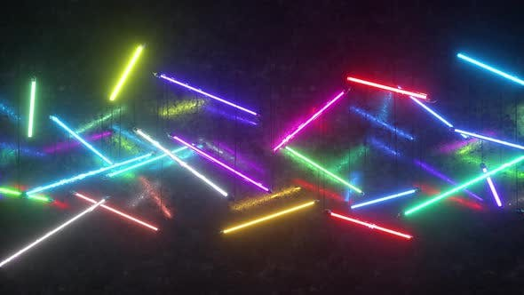 Thumbnail for Multicolored Neon Fluorescent Lights