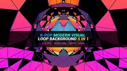 K Pop Modern Visual Loop Background 5 In 1
