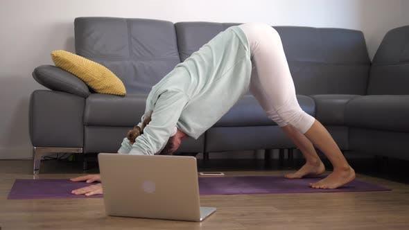Yoga Classes Online Concept