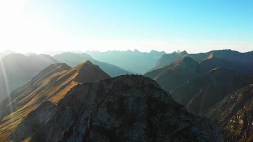 Mountain Climbers on Seekarspitze Summit with Summit Cross