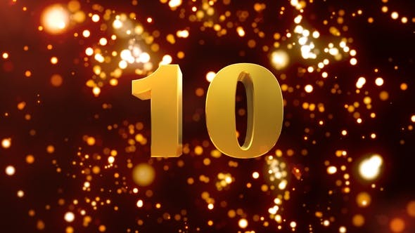 Thumbnail for Golden Particles Countdown 10 Seconds