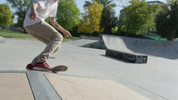 Thumbnail for Skateboarder doing a flip trick
