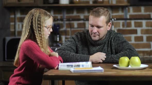 Thumbnail for Stay-at-home Dad Helping Daughter with Studies