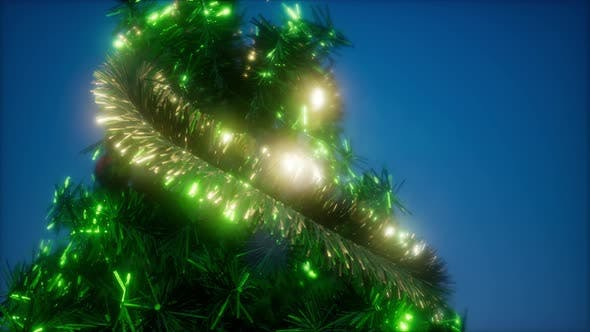 Thumbnail for Christmas Tree with Colorful Lights
