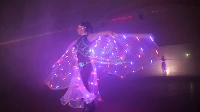 Dance with LED Wings