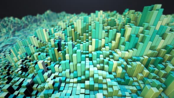 Thumbnail for Abstract Modern Multicolor Cube Background