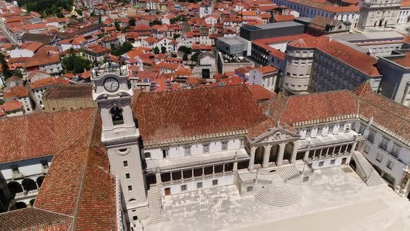 Thumbnail for People on the Top of University Tower in Coimbra, Portugal