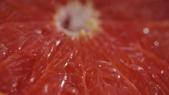 Thumbnail for Cut Grapefruits With Sparkling Dew, Healthy Nutrition, Organic Food, Closeup