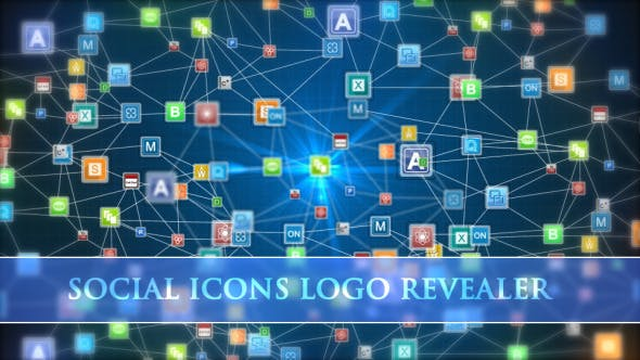 Thumbnail for Social Icons Logo Revealer