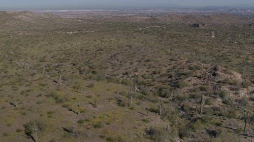 The arid desert landscape of Arizona