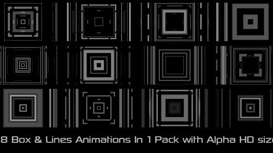 Thumbnail for Box & Lines Elements Pack 01
