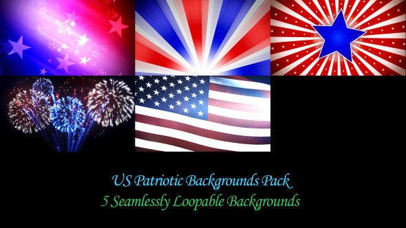Thumbnail for US Patriotic Backgrounds Pack