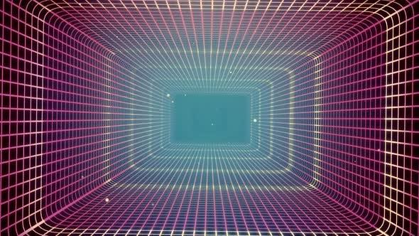 Thumbnail for Grid Tunnel Rectangle  Light Retro 02 HD