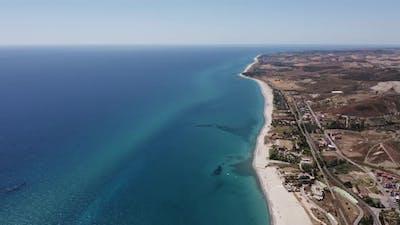 Aerial view of italian coast on summer
