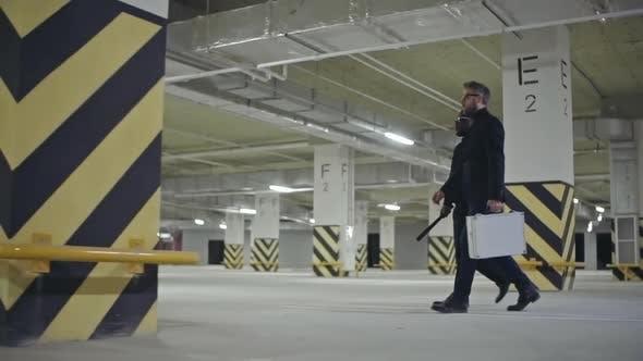 Thumbnail for Dangerous Gangsters Walking in Parking Lot