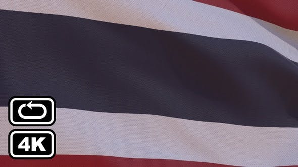 Thumbnail for Thailand Flag 4K Seamless Loop