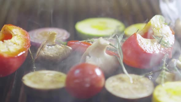 Thumbnail for Turning Vegetables on Grill