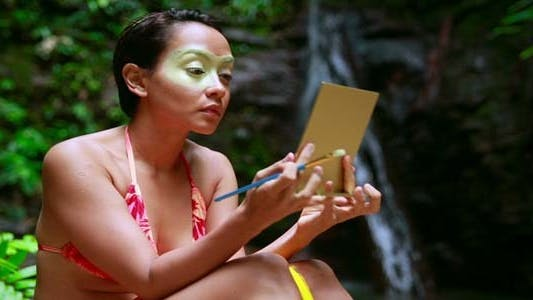 Thumbnail for Borneo Tribal Culture: Face Painting 1