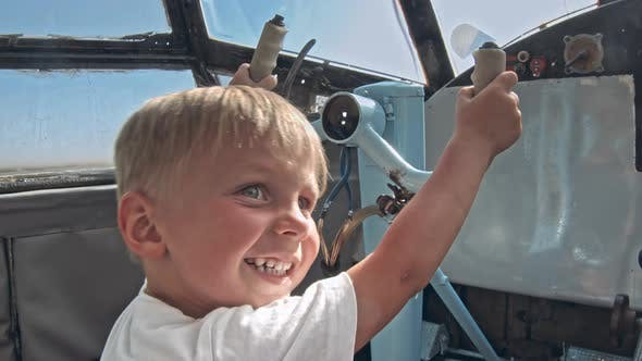 Thumbnail for Small Kid on the Cabin of an Airplane