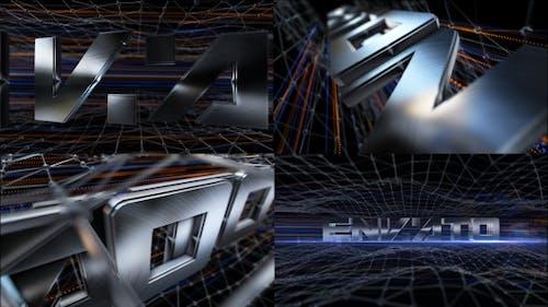 Brushed Metal Logo Text Reveal