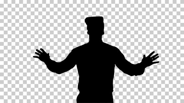 Thumbnail for Silhouette Businessman with VR glasses, Alpha Channel