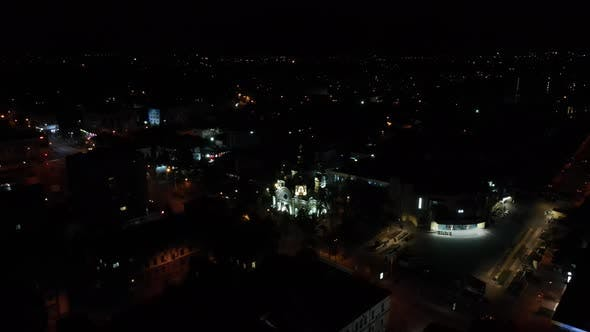 Orthodox Church In The City Center. City Nightlife