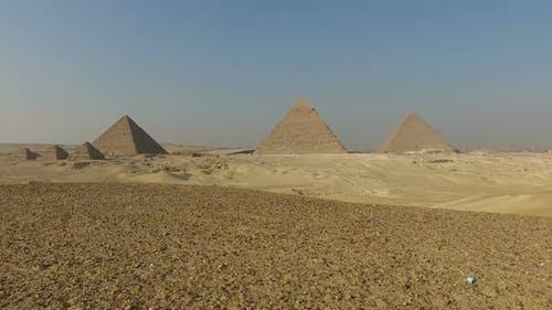 View of beautiful Giza pyramids