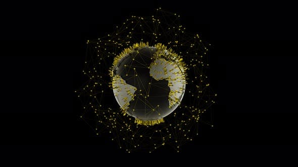 Cover Image for Golden Earth Connection With Golden Human Icons 4k