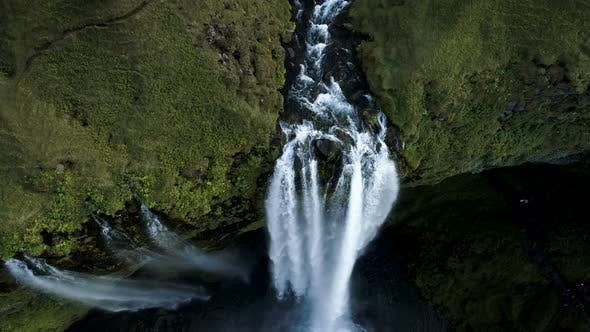 Thumbnail for Flight Over The Exotic Waterfall