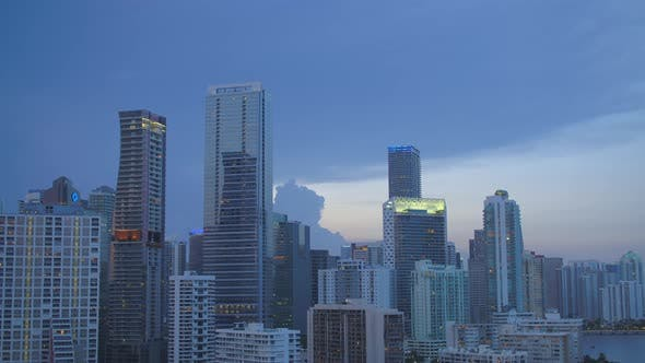 Thumbnail for Aerial Twilight Video Brickell Miami