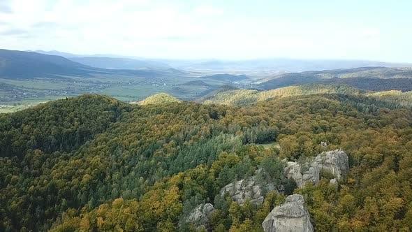 Cover Image for Western Ukraine Dovbush Rocks From A Bird Flight Altitude 3.
