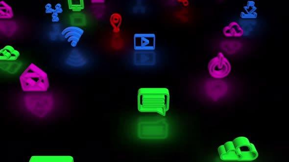 Thumbnail for Soziale Ikone Neon 01 4k