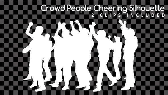 Thumbnail for Crowd People Cheering Silhouette