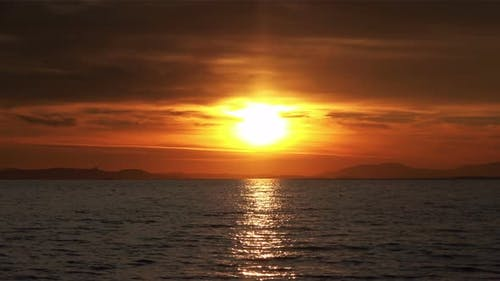 Yellow Red Sea Sunset