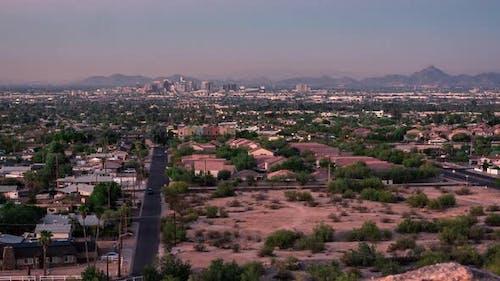 Pheonix Arizona Tag zu Nacht Sonnenuntergang Zeitraffer