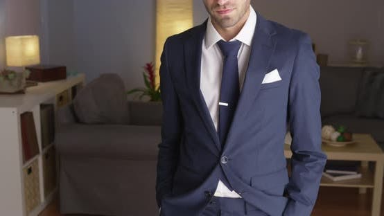 Thumbnail for Handsome Mexican businessman standing looking confident