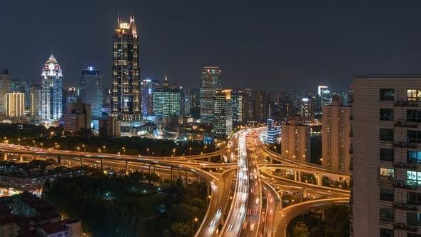 Thumbnail for Shanghai, China | The Nine Dragon Pillar at Night
