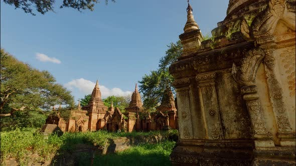 Thumbnail for Time Lapse with a dolly move of one of my hundred of ancient Buddhist monuments in Bagan Myanmar