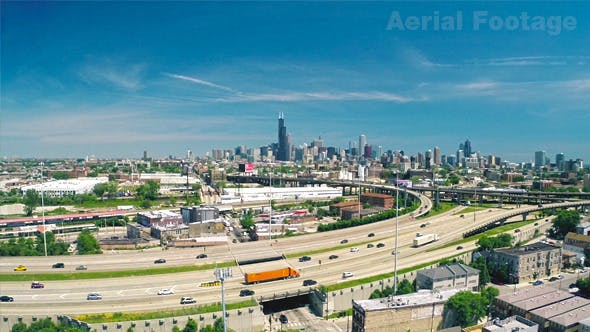 Thumbnail for Busy Chicago - Aerial Footage
