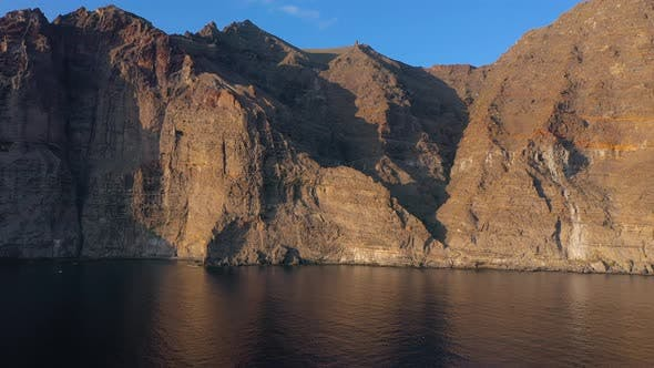 Thumbnail for Aerial View of Los Gigantes Cliffs on Tenerife Canary Islands Spain