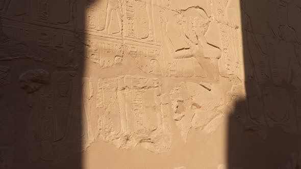 Thumbnail for Wall paintings in Karnak Temple in Luxor.