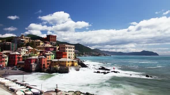 Thumbnail for Genoa, Italy, Fishing village, sea cost