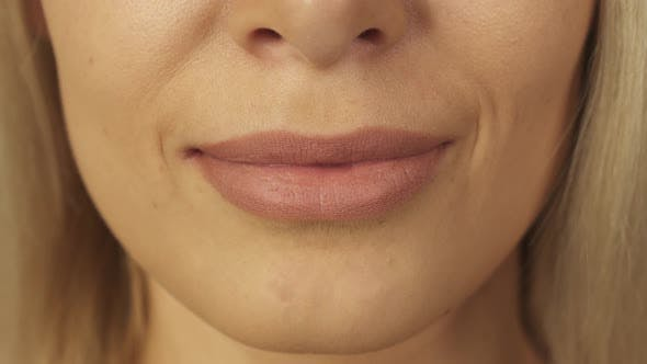 Thumbnail for Close-up of Teeth and Lips of Beautiful Girl