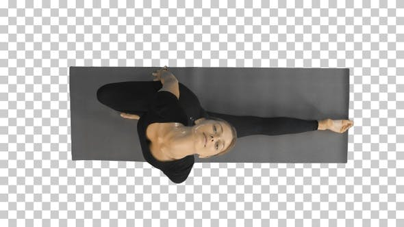 Thumbnail for Portrait of a young woman stretching body, Alpha Channel