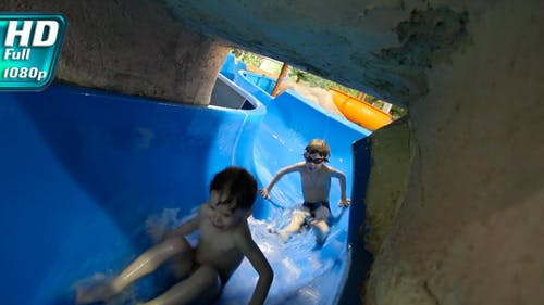Slides at the Water Park