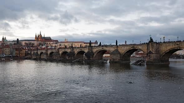 Thumbnail for Evening Timelapse of Charles Bridge, Prague