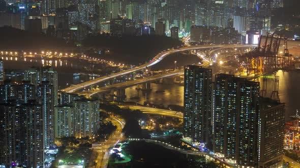 Thumbnail for Night  Traffic in Hong Kong