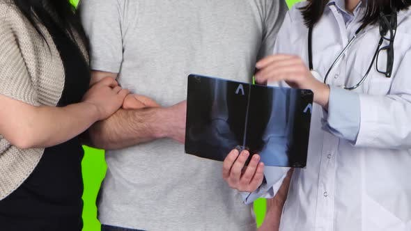 Thumbnail for Doctor Explains the X-ray Picture and Says Goodbye To Patient