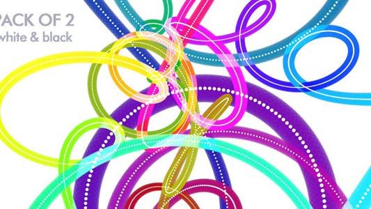 Rainbow Tanzschnüre, 2 Stück