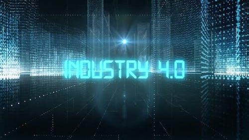Skyscrapers Digital City Tech Word Industry 4.0
